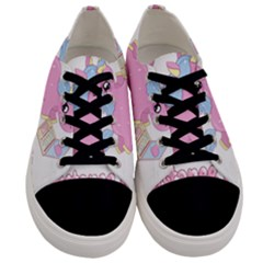 Long Distance Lover   Cute Unicorn Men s Low Top Canvas Sneakers