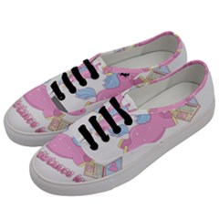 Long Distance Lover   Cute Unicorn Men s Classic Low Top Sneakers by Valentinaart