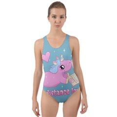 Long Distance Lover   Cute Unicorn Cut Out Back One Piece Swimsuit