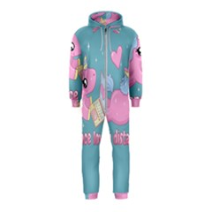 Long Distance Lover   Cute Unicorn Hooded Jumpsuit (kids)