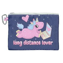 Long Distance Lover   Cute Unicorn Canvas Cosmetic Bag (xl) by Valentinaart