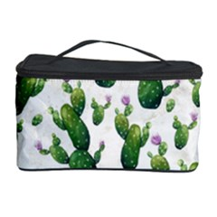 Cactus Pattern Cosmetic Storage Case by Valentinaart