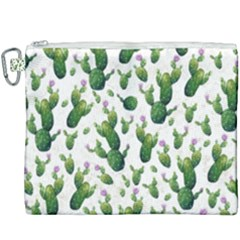 Cactus Pattern Canvas Cosmetic Bag (xxxl) by Valentinaart