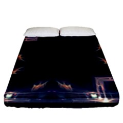 Cosmos Kaleidoscope Art Pattern Fitted Sheet (queen Size)