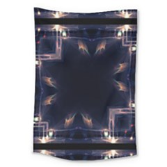 Cosmos Kaleidoscope Art Pattern Large Tapestry by Sapixe