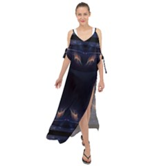 Cosmos Kaleidoscope Art Pattern Maxi Chiffon Cover Up Dress
