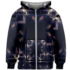 Cosmos Kaleidoscope Art Pattern Kids Zipper Hoodie Without Drawstring