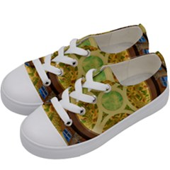 Gaylord Palms Hotel Dome Painted Kids  Low Top Canvas Sneakers by Sapixe