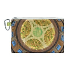 Gaylord Palms Hotel Dome Painted Canvas Cosmetic Bag (large) by Sapixe