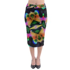 Butterfly Color Pop Art Midi Pencil Skirt