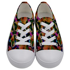 Butterfly Color Pop Art Kids  Low Top Canvas Sneakers