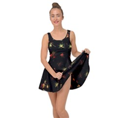 Fireworks Christmas Night Dark Inside Out Casual Dress