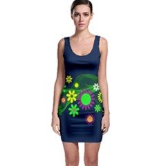 Flower Power Flowers Ornament Bodycon Dress by Sapixe