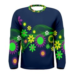 Flower Power Flowers Ornament Men s Long Sleeve Tee by Sapixe