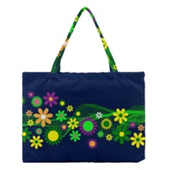 Flower Power Flowers Ornament Medium Tote Bag by Sapixe