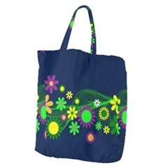 Flower Power Flowers Ornament Giant Grocery Tote by Sapixe