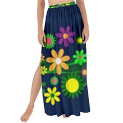 Flower Power Flowers Ornament Maxi Chiffon Tie Up Sarong by Sapixe
