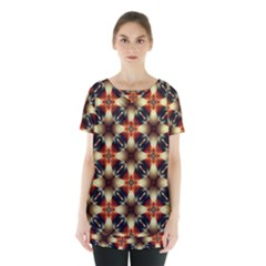 Kaleidoscope Image Background Skirt Hem Sports Top by Sapixe