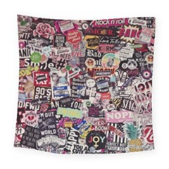 Sticker Wall Color Paper Decoration Square Tapestry (large)