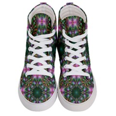 Kaleidoscope Digital Kaleidoscope Women s Hi Top Skate Sneakers