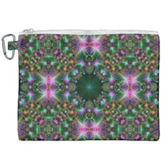 Kaleidoscope Digital Kaleidoscope Canvas Cosmetic Bag (xxl)