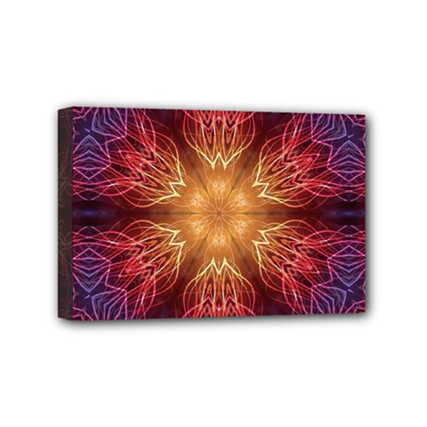 Fractal Abstract Artistic Mini Canvas 6  X 4  by Sapixe