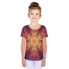 Fractal Abstract Artistic Kids  One Piece Tee by Sapixe