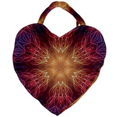 Fractal Abstract Artistic Giant Heart Shaped Tote