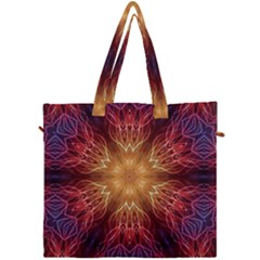 Fractal Abstract Artistic Canvas Travel Bag
