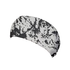 Fabric Texture Painted White Soft Yoga Headband