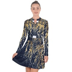 Nature Model No One Wallpaper Long Sleeve Panel Dress