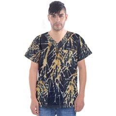 Nature Model No One Wallpaper Men s V Neck Scrub Top