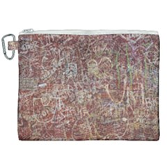 Metal Article Figure Old Red Wall Canvas Cosmetic Bag (xxl) by Sapixe