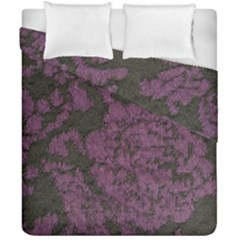 Purple Black Red Fabric Textile Duvet Cover Double Side (california King Size)