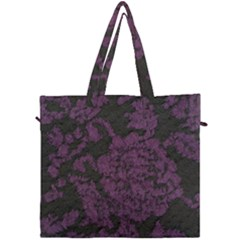Purple Black Red Fabric Textile Canvas Travel Bag by Sapixe