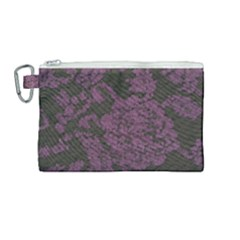 Purple Black Red Fabric Textile Canvas Cosmetic Bag (medium) by Sapixe