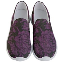 Purple Black Red Fabric Textile Men s Lightweight Slip Ons