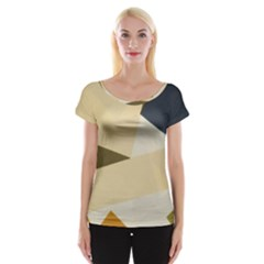 Fabric Textile Texture Abstract Cap Sleeve Tops