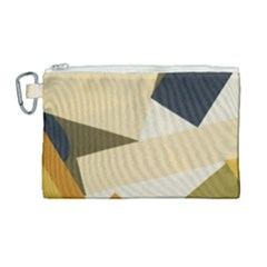 Fabric Textile Texture Abstract Canvas Cosmetic Bag (large) by Sapixe