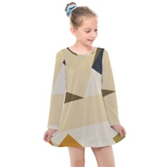 Fabric Textile Texture Abstract Kids  Long Sleeve Dress