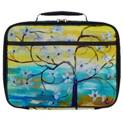 Oil Painting Tree Flower Full Print Lunch Bag by Sapixe