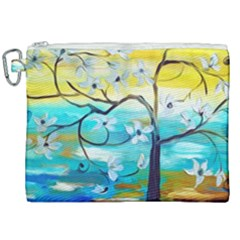 Oil Painting Tree Flower Canvas Cosmetic Bag (xxl) by Sapixe