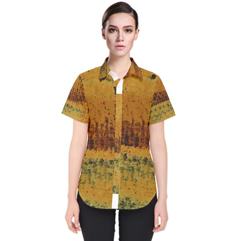Fabric Textile Texture Abstract Women s Short Sleeve Shirt by Sapixe