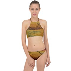 Fabric Textile Texture Abstract Racer Front Bikini Set