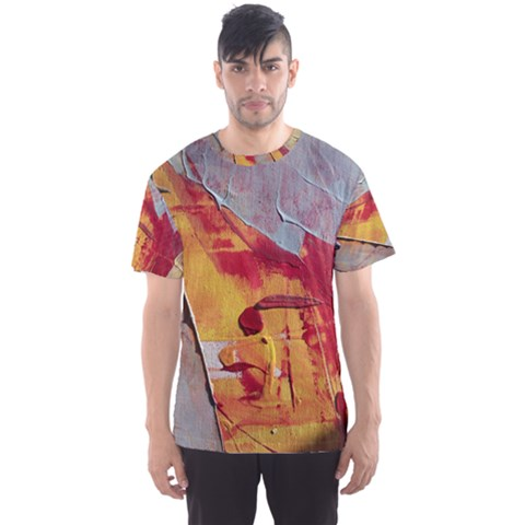 Painting Macro Color Oil Paint Men s Sports Mesh Tee by Sapixe