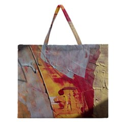 Painting Macro Color Oil Paint Zipper Large Tote Bag by Sapixe