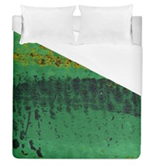 Green Fabric Textile Macro Detail Duvet Cover (queen Size)