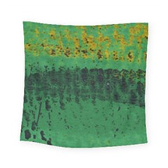 Green Fabric Textile Macro Detail Square Tapestry (small) by Sapixe
