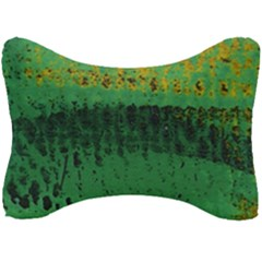 Green Fabric Textile Macro Detail Seat Head Rest Cushion by Sapixe
