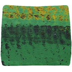 Green Fabric Textile Macro Detail Seat Cushion by Sapixe